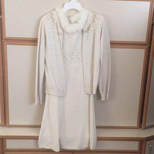 Gymboree 2 pc dress and cardigan set EUC worn once